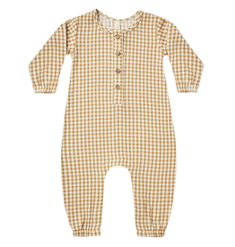 Quincy Mae Quincy Mae Honey Gingham Organic Woven Jumpsuit