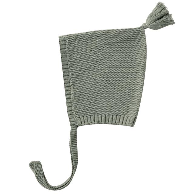 Quincy Mae Quincy Mae Basil Organic Knit Pixie Bonnet