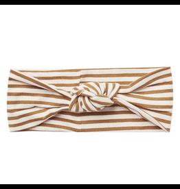 Quincy Mae Walnut Stripe Knotted Headband