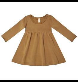 Quincy Mae Quincy Mae Walnut Organic Jersey Long Sleeve Dress