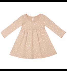 Quincy Mae Quincy Mae Dots Organic Jersey Long Sleeve Dress
