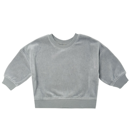 Quincy Mae Quincy Mae Organic Dusty Blue Drop Shoulder Sweatshirt