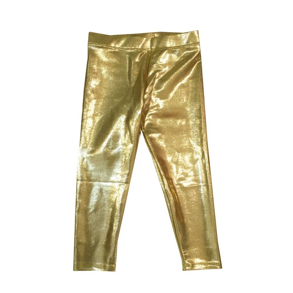 Lulu Bebe Gold Lame Leggings