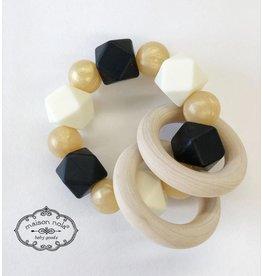 Maison Nola Black & Gold Silicone Teether