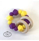 Maison Nola Purple & Gold Silicone Teether
