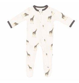 Kyte Baby Kyte Baby Bamboo Zippered Footie - Giraffe