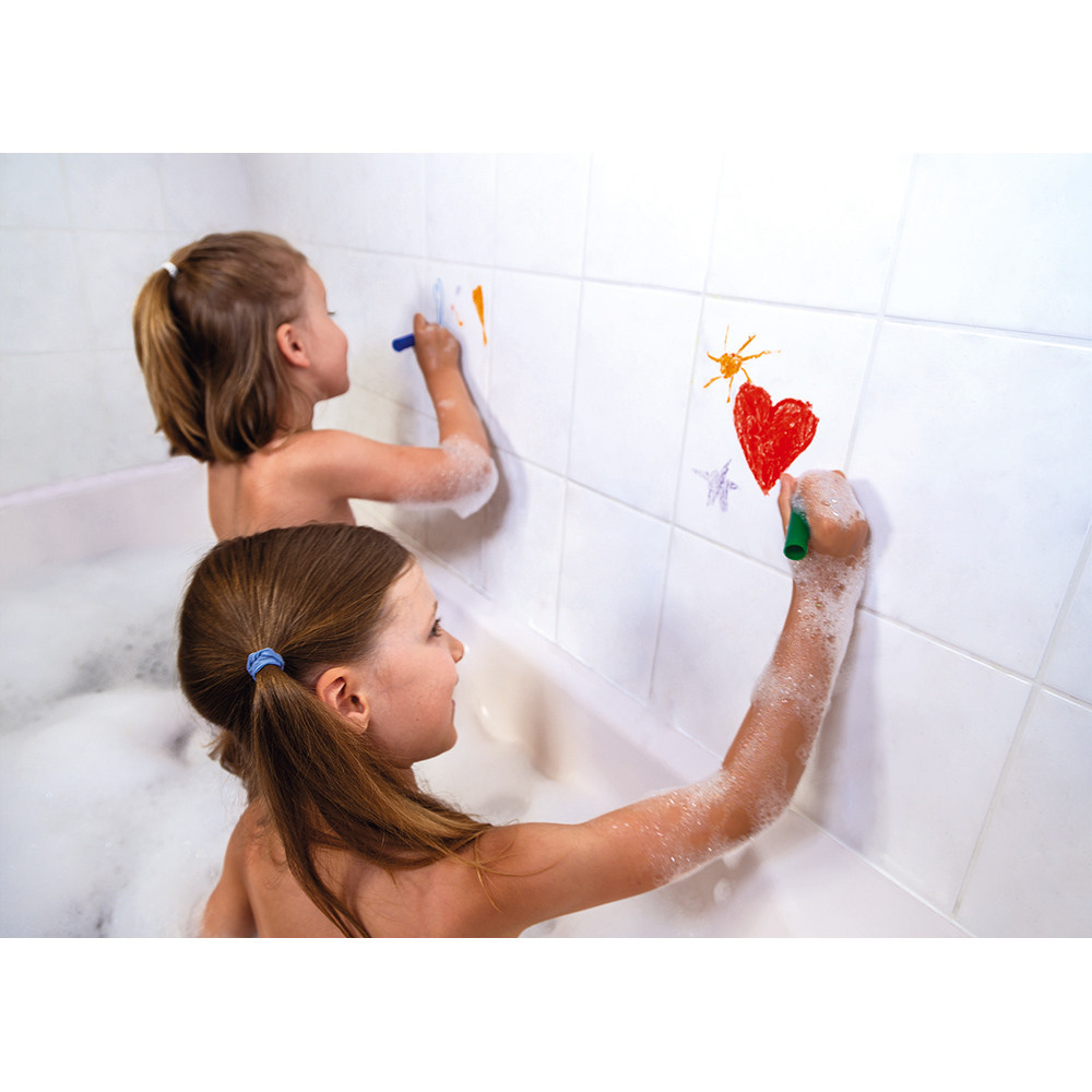 Janod Toys Coloring in the Bath Crayon Set