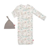 Magnetic Me Big Sky Modal Magnetic Sack Gown & Hat Set (0-3 mo)