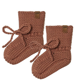 Quincy Mae Quincy Mae Clay Organic Knit Booties