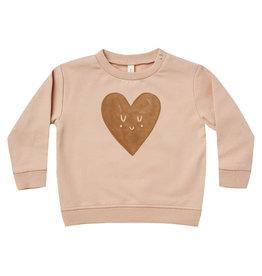 Quincy Mae Quincy Mae Petal Heart Fleece Sweatshirt