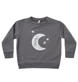 Quincy Mae Quincy Mae Dark Sea Moon Stars Fleece Sweatshirt