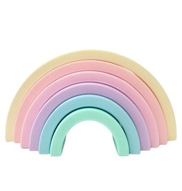 Sugar + Maple Silicone Rainbow Stacking Toy (small)