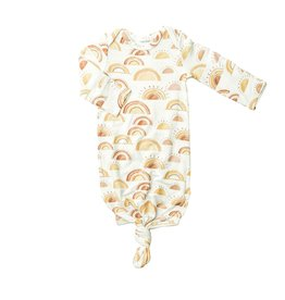 Angel Dear Pink Rise and Shine Bamboo Knotted Gown (0-3m)