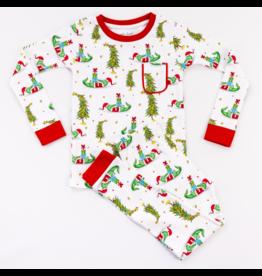 Nola Tawk Gator Claus Organic Cotton Pajama Set