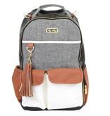 Itzy Ritzy Itzy Ritzy Boss Diaper Bag Backpack in Coffee & Cream