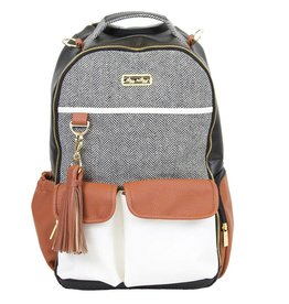 Itzy Ritzy Itzy Ritzy Boss Diaper Bag Backpack in Coffee & Cream