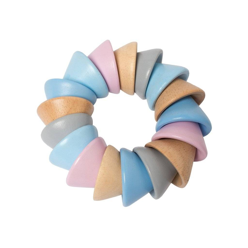 Manhattan Toys Pastel Baby Cones Teether Toy