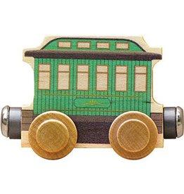 Maple Landmark Magnetic Name Train Green Passenger Car
