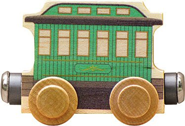 Maple Landmark Magnetic Name Trains Green Passenger Car