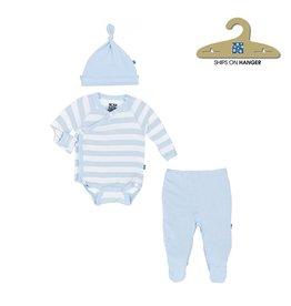 KicKee Pants Kickee Pants  Kimono Newborn Gift Set - Pond Stripe