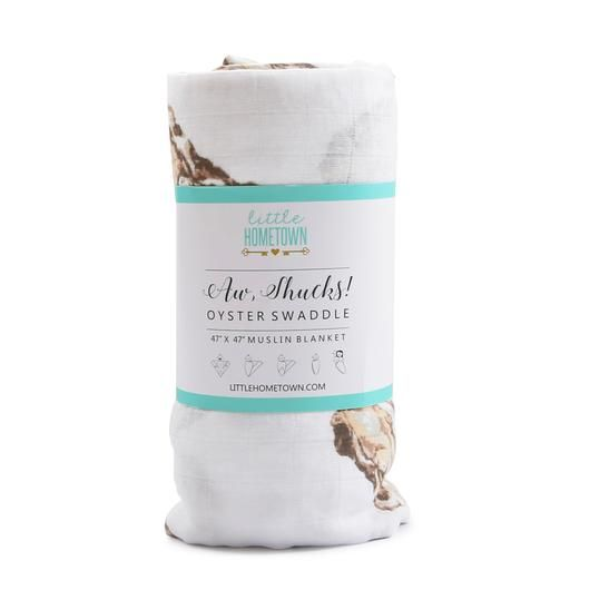 Little Hometown Little Hometown Aw Shucks! Bamboo Oyster Swaddle
