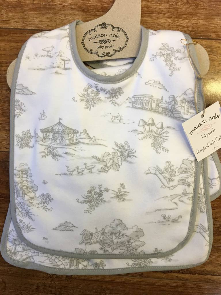 Maison Nola Storyland Toile Bib & Burp Set