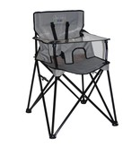 ciao! baby Portable Highchair in Gray Check