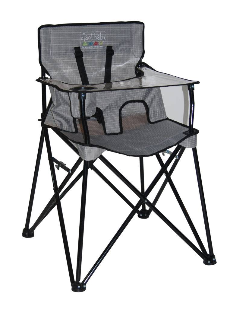 ciao! baby Portable Highchair in Gray Check - ZukaBaby