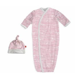 Magnetic Me Magnetic Me Modal Gown & Hat Set - Pink Sailboats