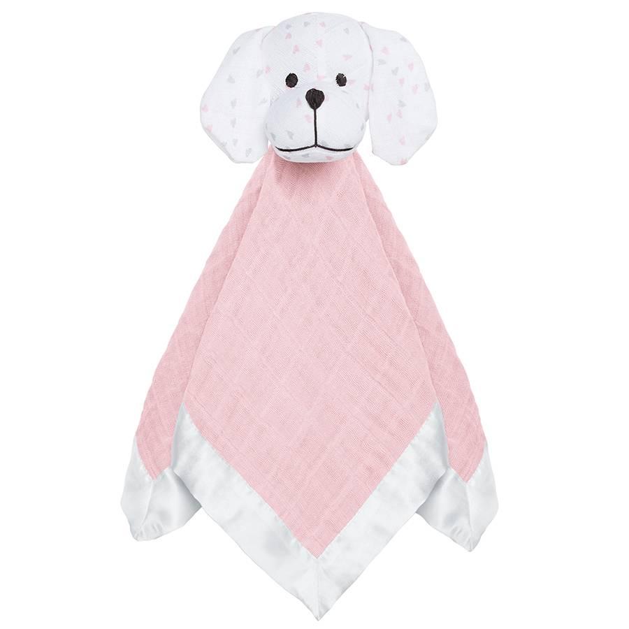 aden + anais classic muslin lovey - mini hearts puppy