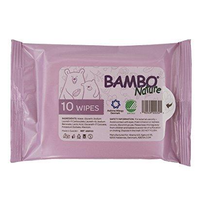 Bambo Nature Bambo Nature Tidy Bottom Wipes - Tiny Travel 10pk