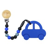 glitter and spice Glitter & Spice Silicone Clip On Teether - Car