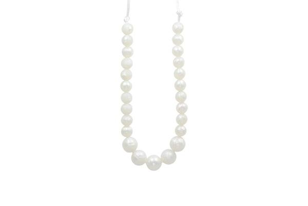 glitter and spice Glitter & Spice Silicone Teething Necklace - Pearl