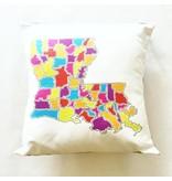 Ellen Macomber Ellen Macomber LA Map Pillow