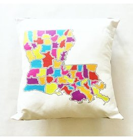 Ellen Macomber Ellen Macomber LA Map Pillow