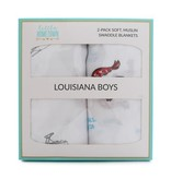 Little Hometown Louisiana Boys Bamboo Swaddle Set