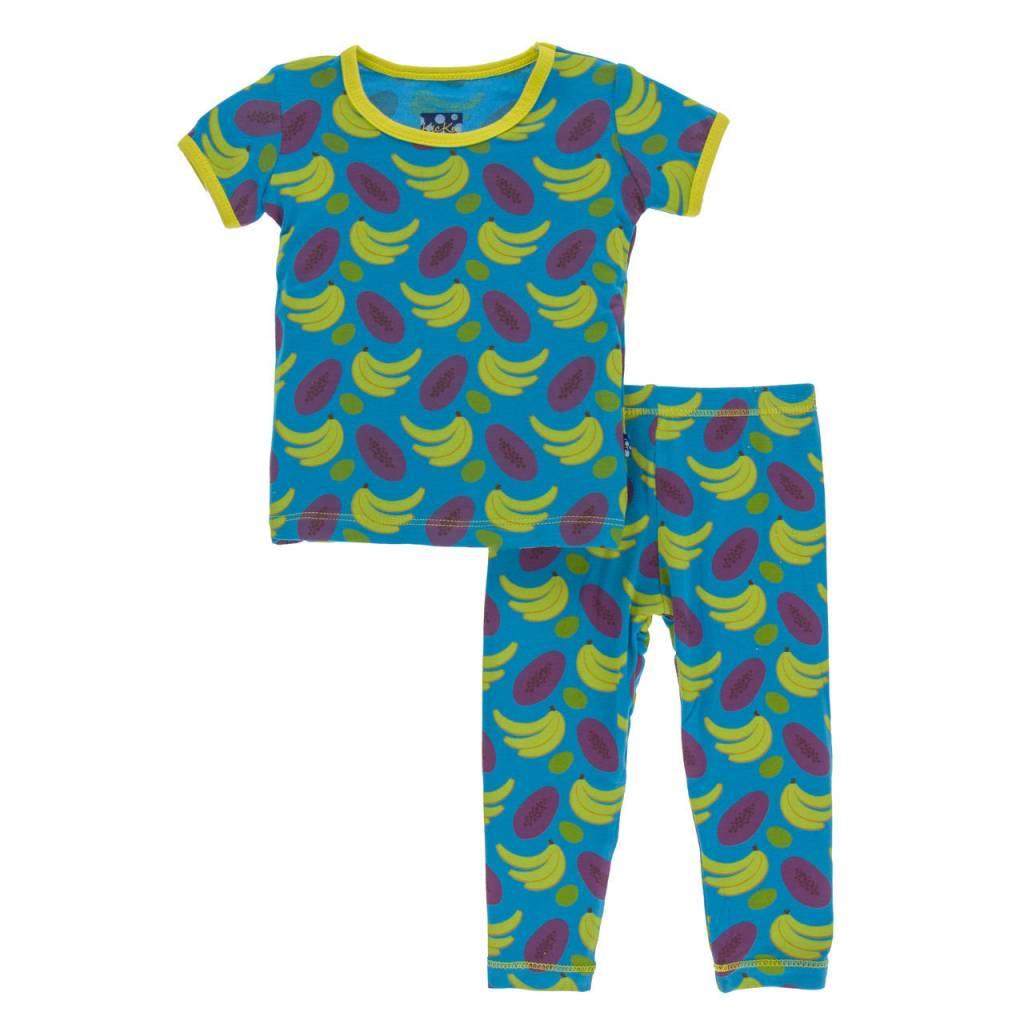 KicKee Pants KicKee Pants Short Sleeve PJ Set - Tropical Fruit