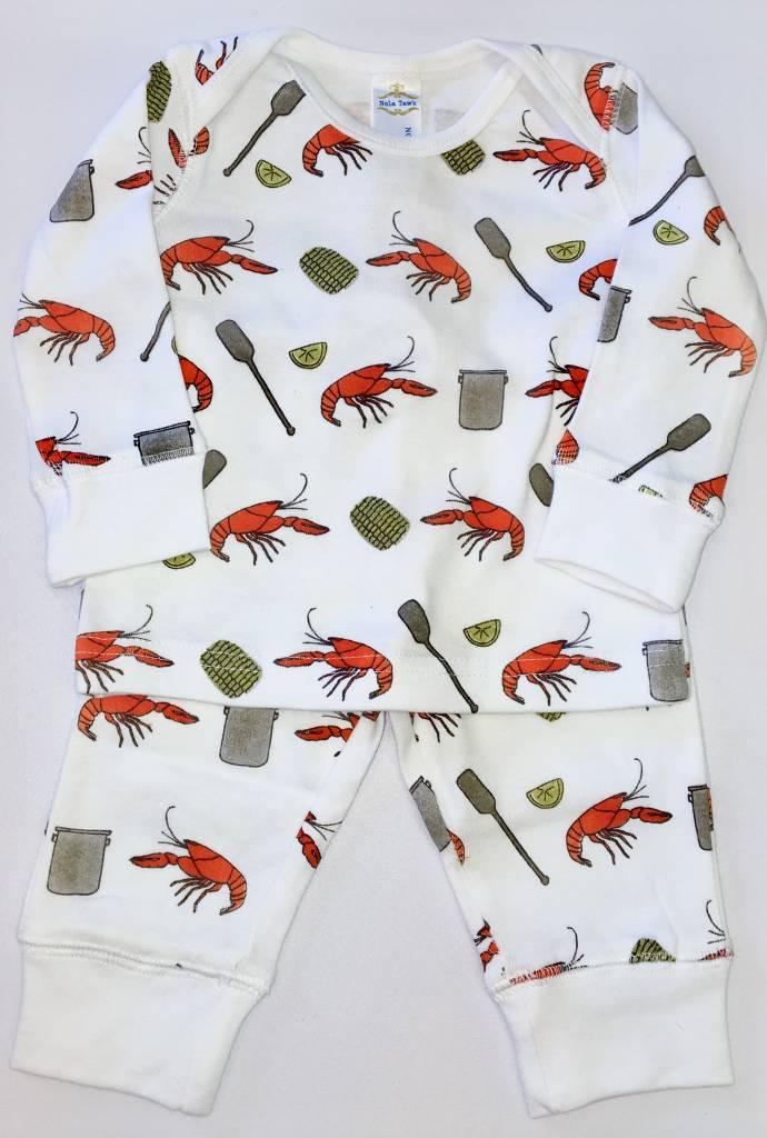 Nola Tawk Crawfish Boil Organic Cotton Pajama Set-