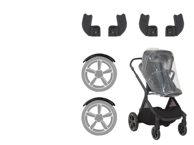 Nuna Nuna DEMI Grow Stroller (Caviar Floor Model)