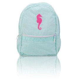 Palm Beach Crew Seersucker Backpack - Seahorse