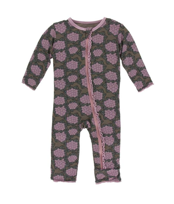 KicKee Pants KicKee Pants Zipper Muffin Ruffle Coverall - African Violets