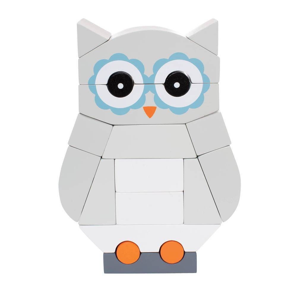 Manhattan Toys Luna the Owl Magnetic Stacking Toy
