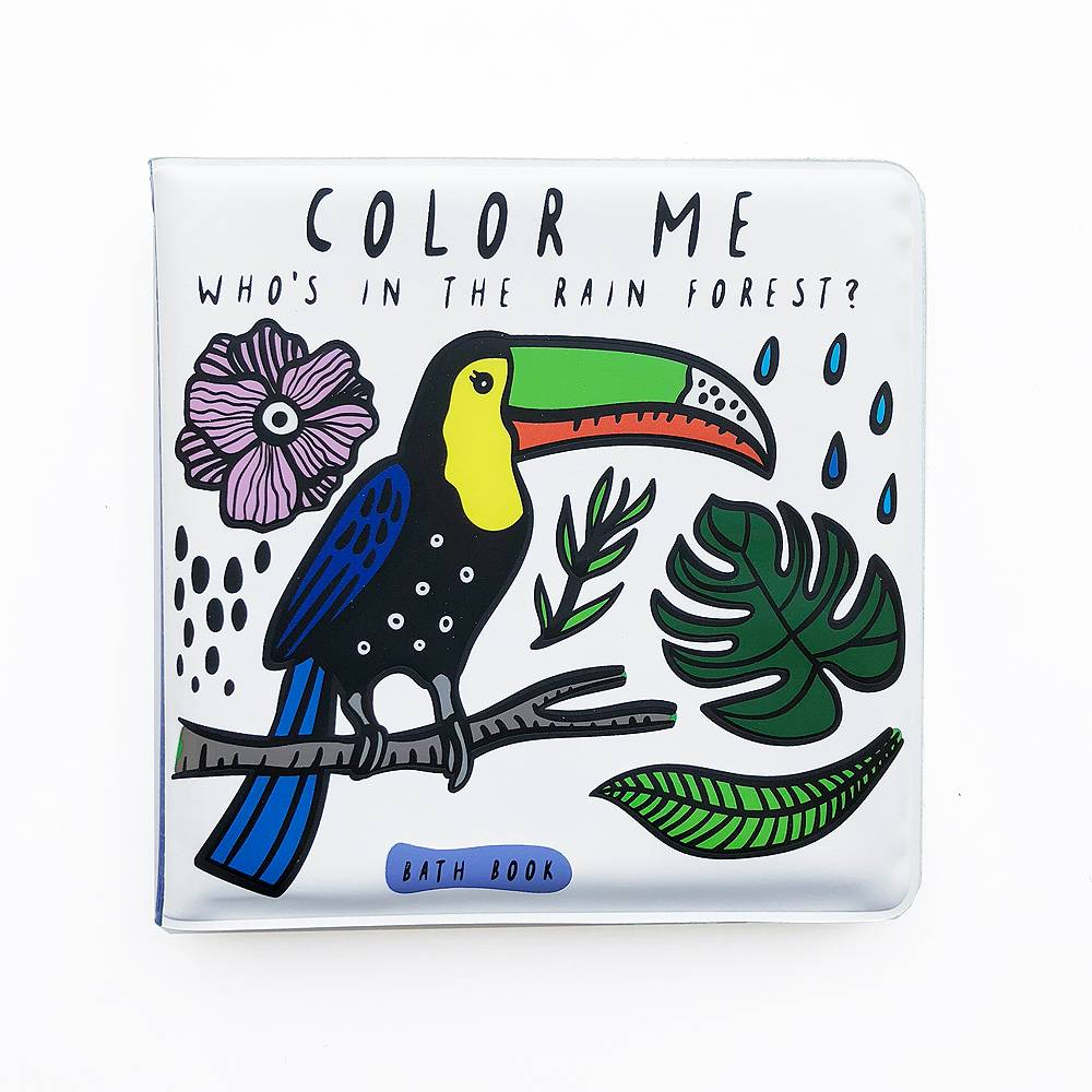 Books Color Me: Who's in the Rainforest Bath Book