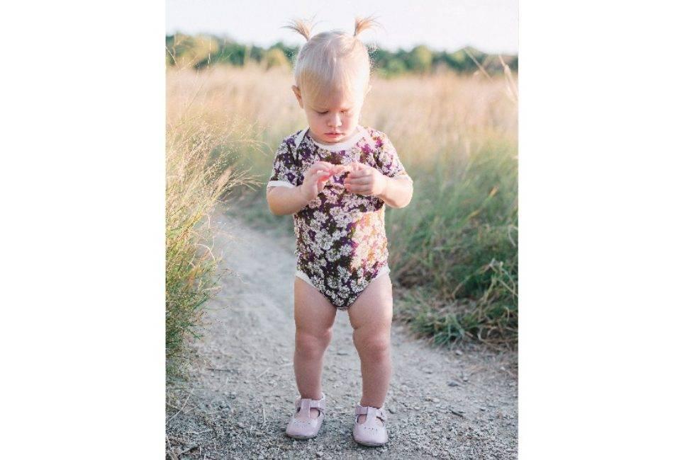 Milkbarn Milkbarn Bamboo Onesie - Purple Floral