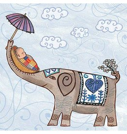 putumayo Elephant New Baby Greeting Card