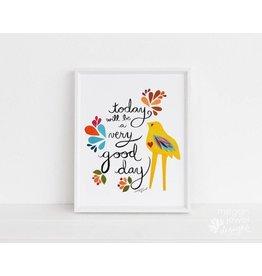 Megan Jewel Designs Today - 8x10 Framed Nursery Print