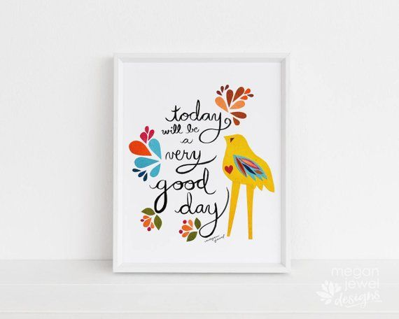Megan Jewel Designs Today - 8x10 Framed Nursery Print