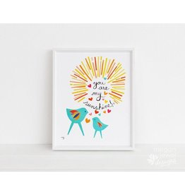 Megan Jewel Designs Sunshine - 11x14 Framed Nursery Print