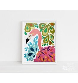 Megan Jewel Designs Flamingo - 8x10 Framed Nursery Print