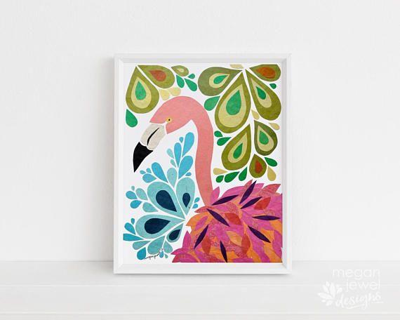 Megan Jewel Designs Flamingo - 8x10 Framed Nursery Print